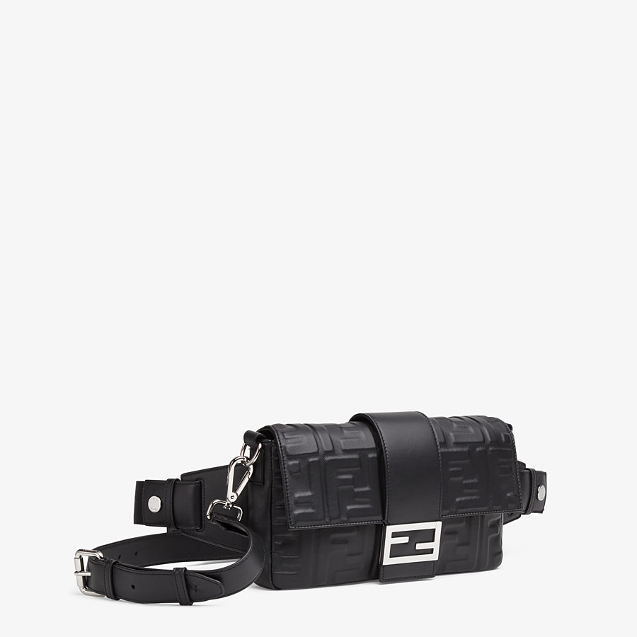 FENDI BAGUETTE - Black nappa leather bag - view 2 detail