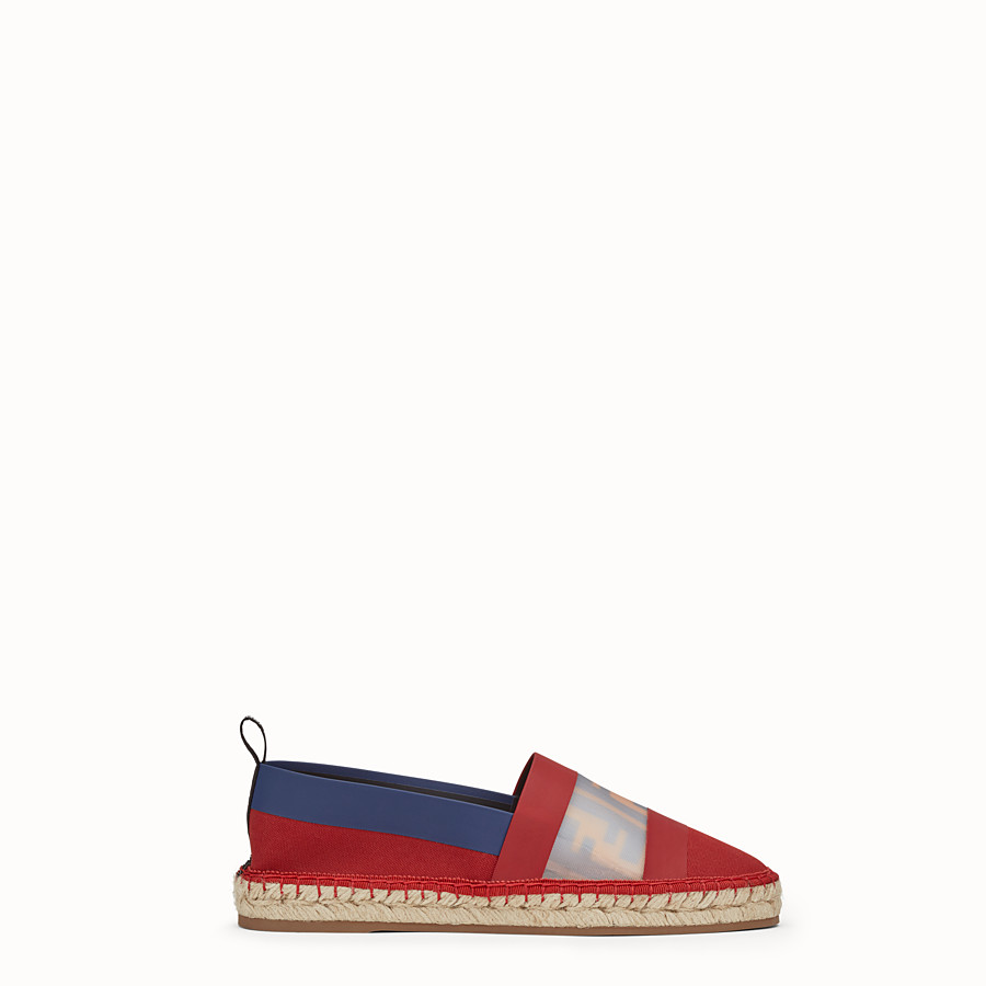 FENDI ESPADRILLES - Red canvas espadrilles - view 1 detail