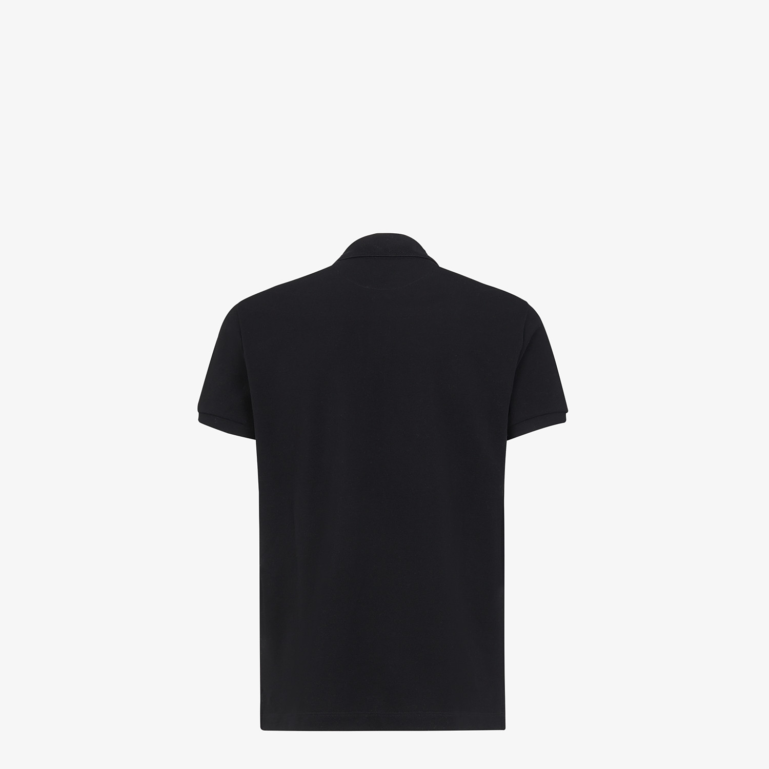 FENDI POLO SHIRT - Black cotton polo shirt - view 2 detail