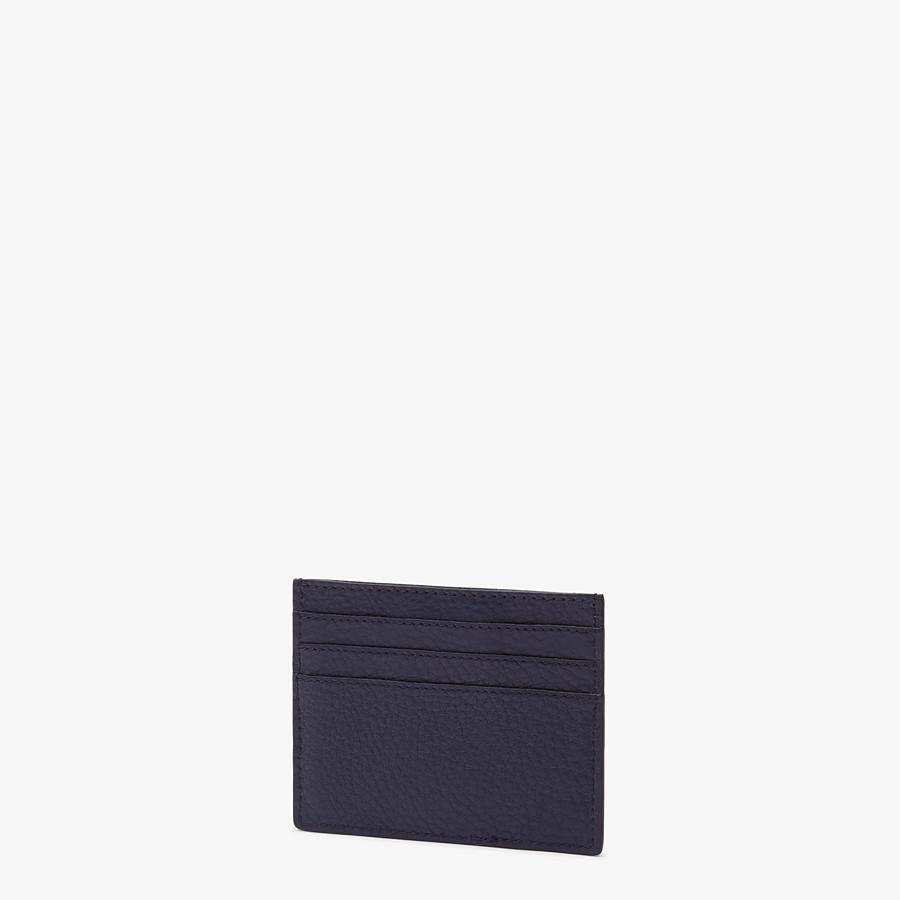 FENDI CARD HOLDER - Blue leather card holder - view 2 detail