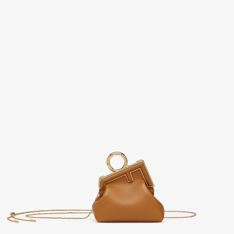 FENDI NANO FENDI FIRST CHARM - Brown nappa leather charm - view 1 detail