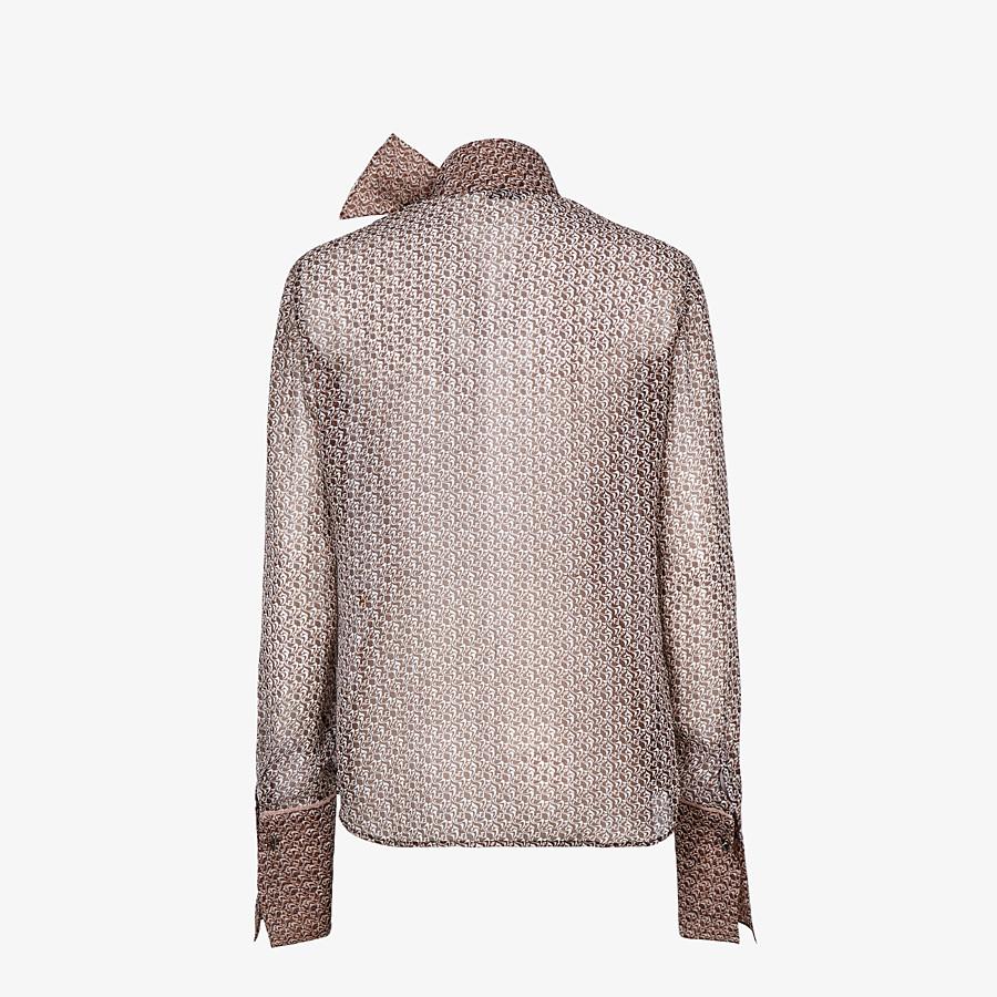 FENDI HEMD - Bluse aus Seide in Braun und Rosa - view 2 detail