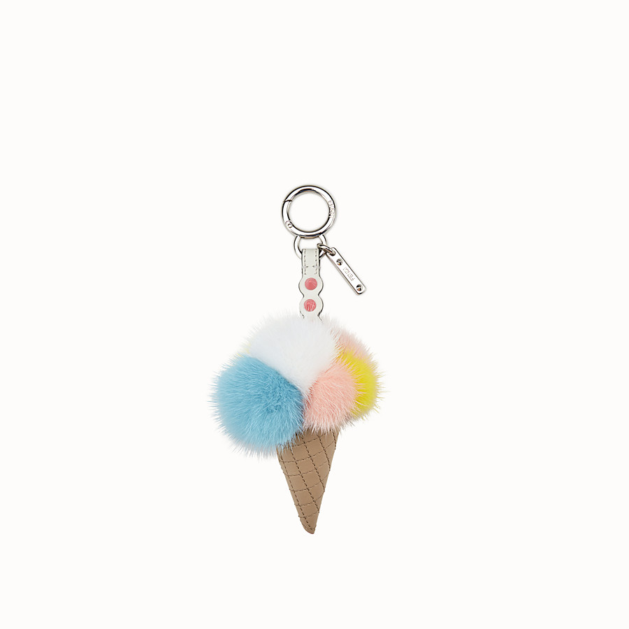 FENDI ICE CREAM CHARM - Charm in multicolour fur - view 1 detail