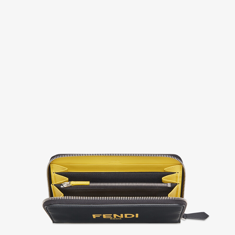 FENDI ZIP-AROUND - Black leather wallet - view 3 detail