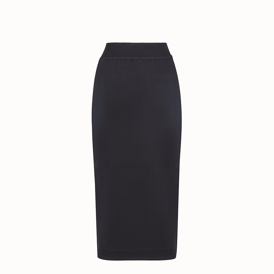 FENDI SKIRT - Black fabric skirt - view 2 detail