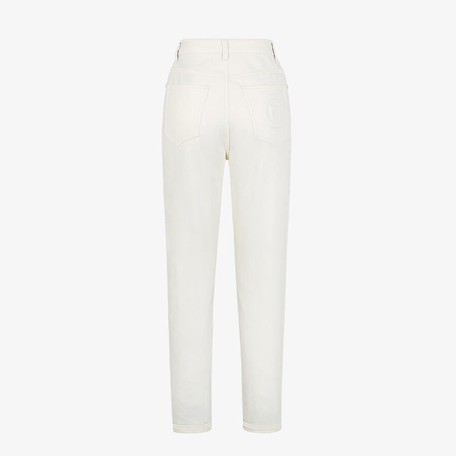 FENDI PANTS - White denim jeans - view 2 detail