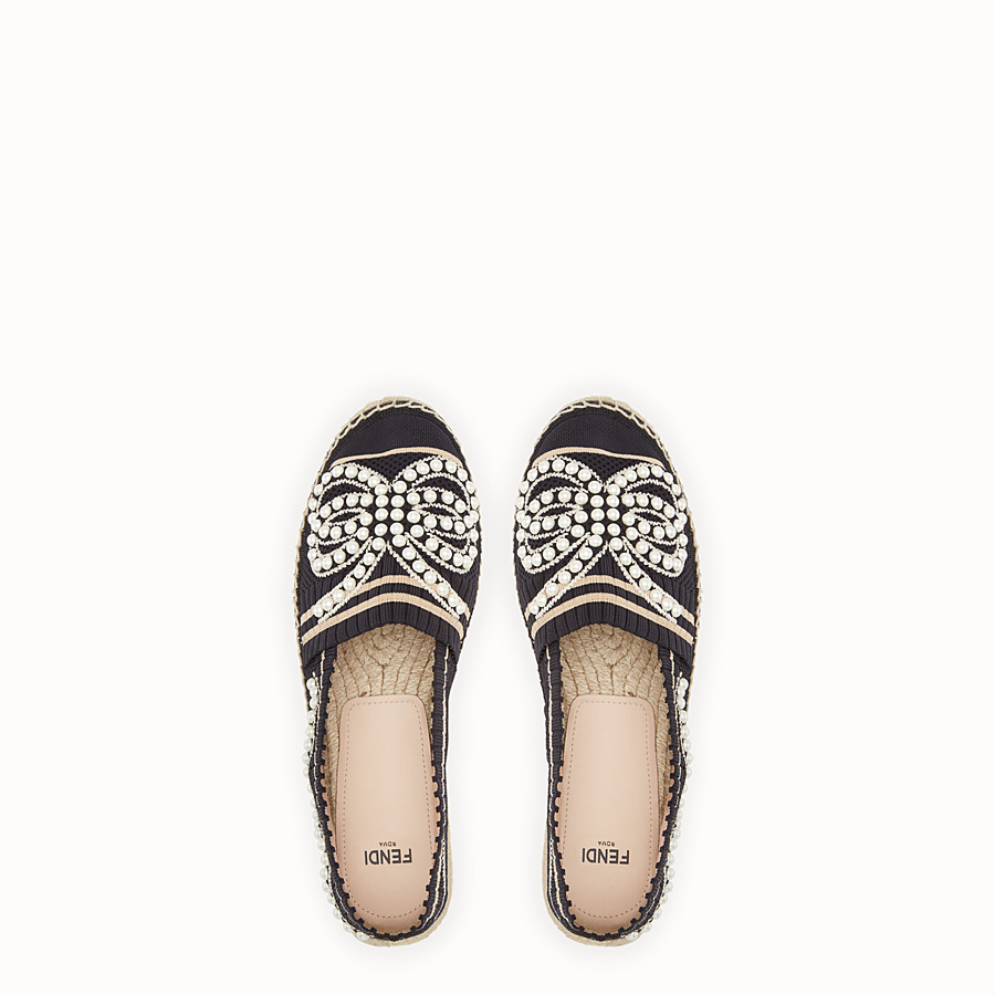 FENDI ESPADRILLES - Black yarn espadrilles - view 4 detail
