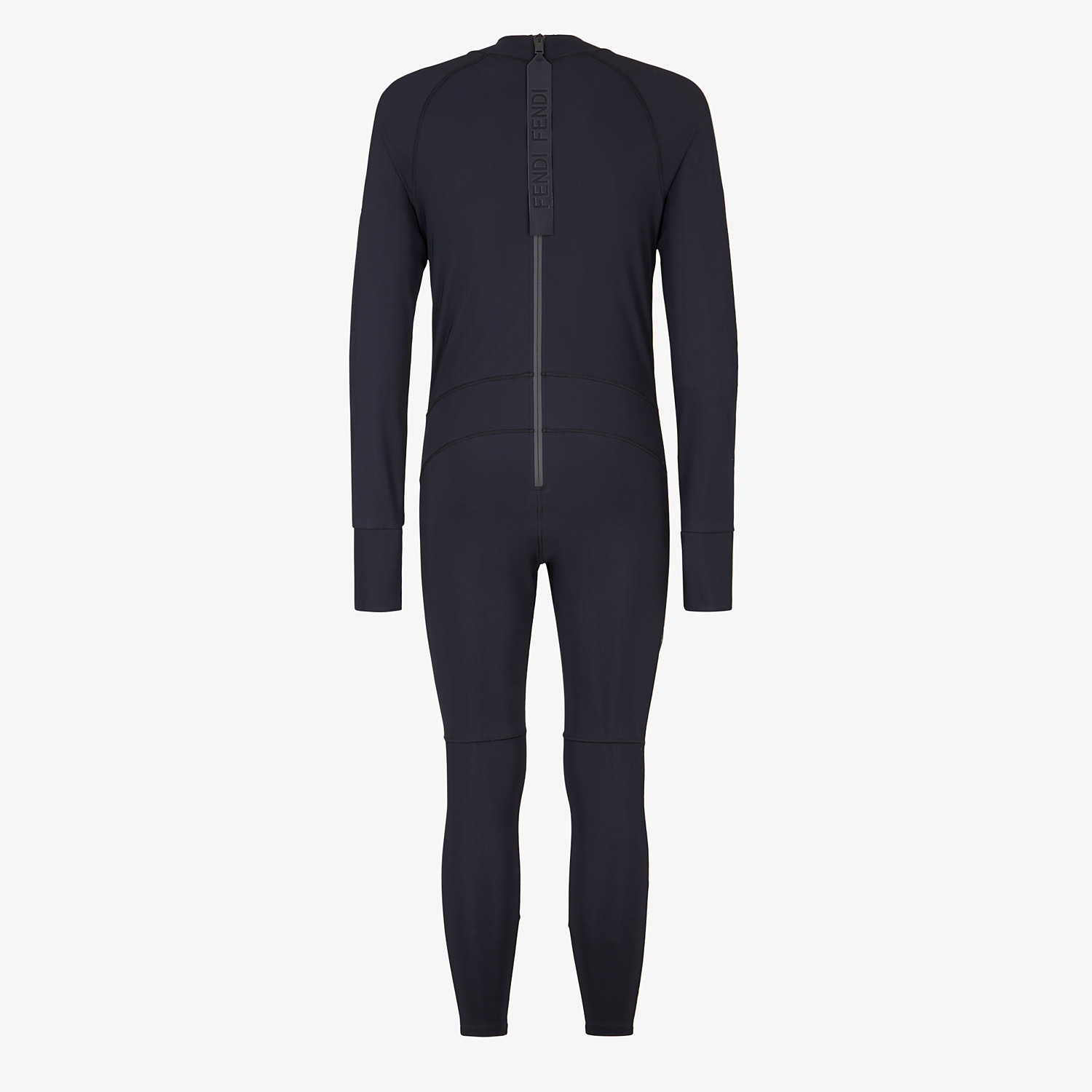 FENDI JUMPSUIT - Black stretch fabric running tracksuit - view 2 detail