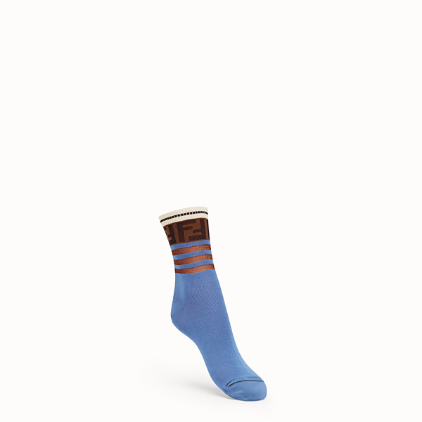 FENDI SOCKS - Multicolour cotton socks - view 1 small thumbnail