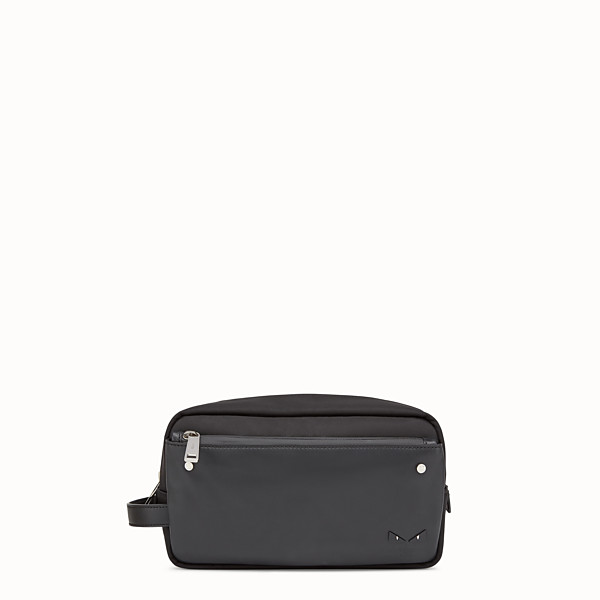 FENDI TOILETRY CASE - Black nylon and leather case - view 1 small thumbnail