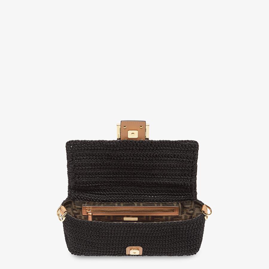 FENDI BAGUETTE - Black cotton crochet bag - view 4 detail