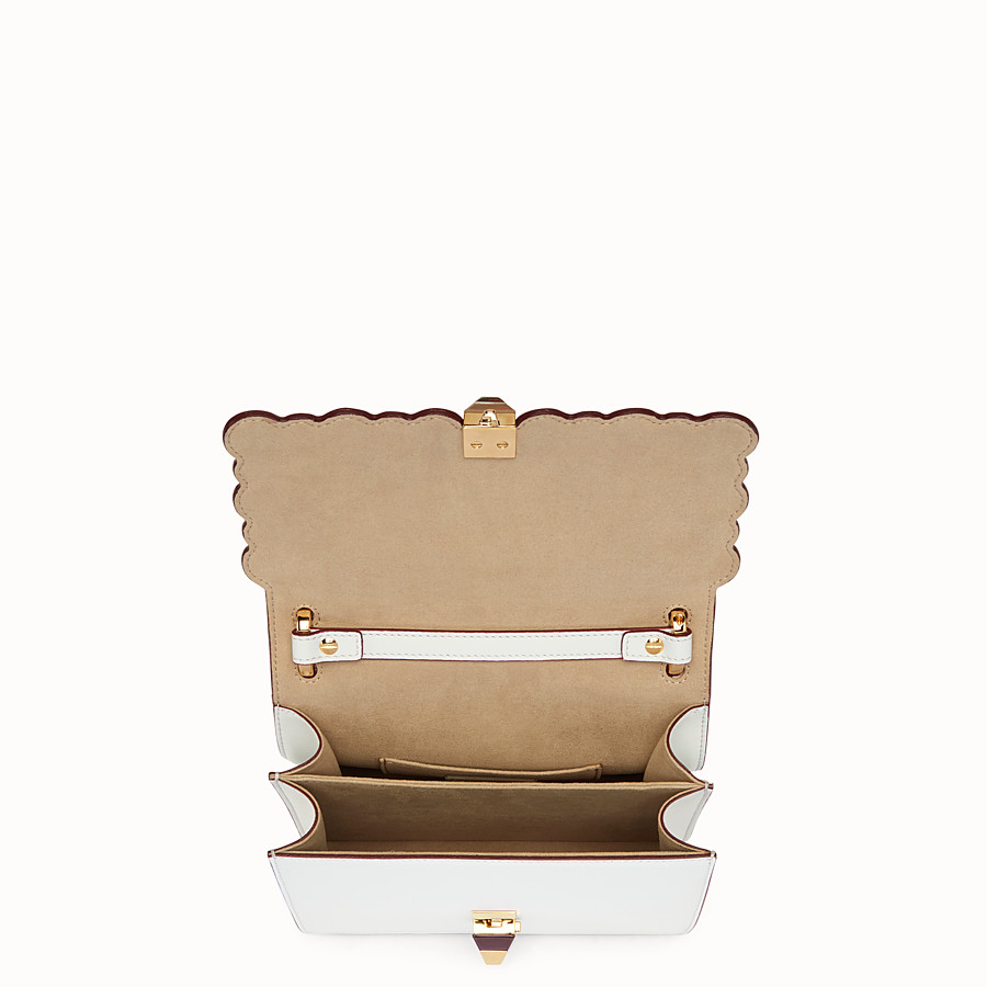 FENDI KAN I SMALL - White leather mini-bag - view 4 detail