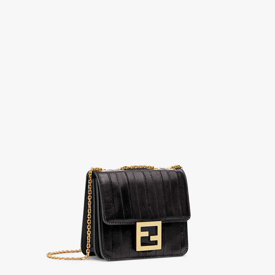 FENDI FENDI FAB - Black eel leather bag - view 2 detail