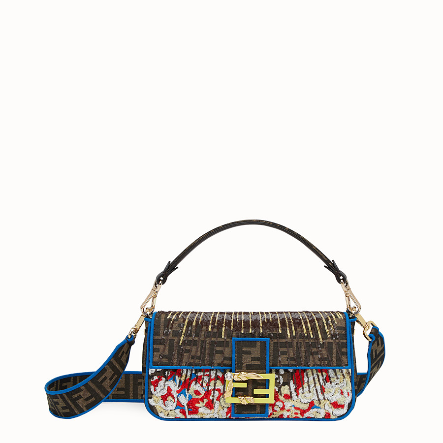 FENDI BAGUETTE - Multicolor fabric bag - view 1 detail