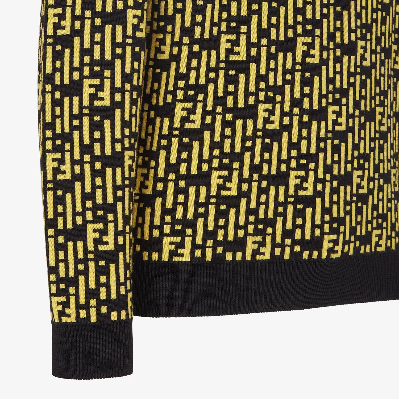 FENDI SWEATER - Multicolor cashmere sweater - view 3 detail