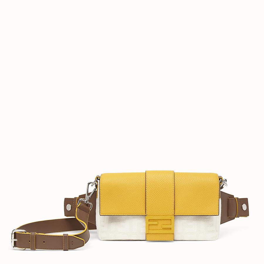 FENDI BAGUETTE - White canvas bag - view 1 detail