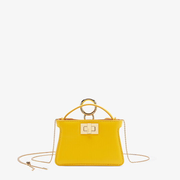Yellow nappa leather charm
