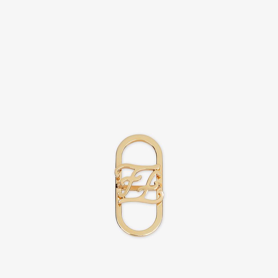 FENDI KARLIGRAPHY FOULARD RING - Gold-colour foulard ring - view 1 detail