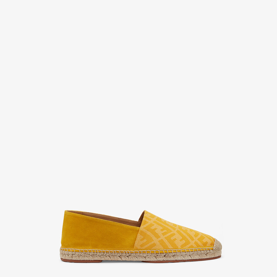 FENDI ESPADRILLES - Yellow fabric and suede espadrilles - view 1 detail