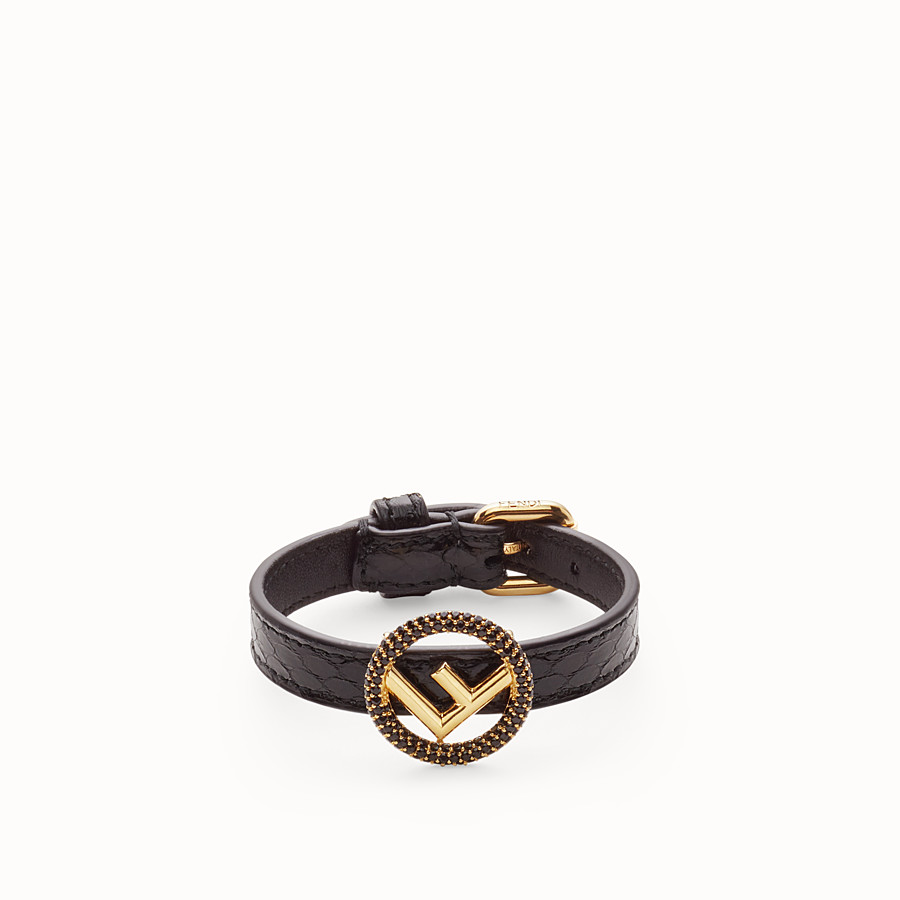 FENDI F IS FENDI BRACELET - Black bracelet - view 1 detail