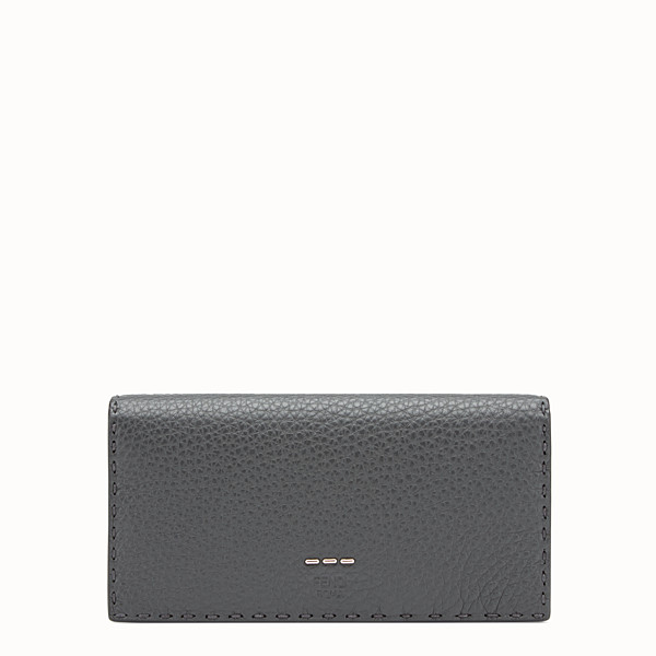 FENDI CONTINENTAL - Continental in grey Roman leather - view 1 small thumbnail