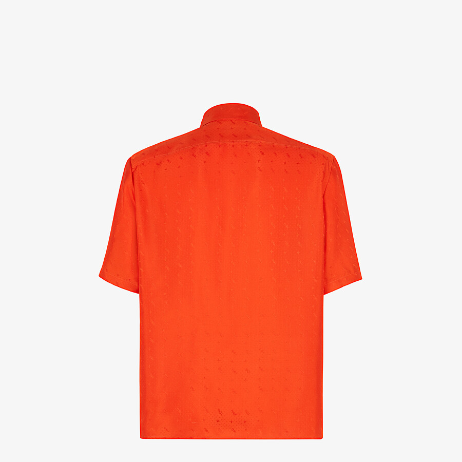 FENDI SHIRT - Red silk shirt - view 2 detail