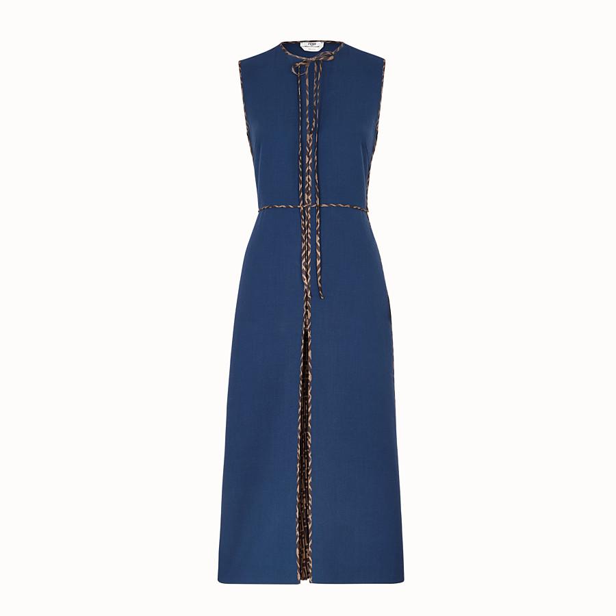 FENDI KLEID - Kleid aus Wolle in Blau - view 1 detail