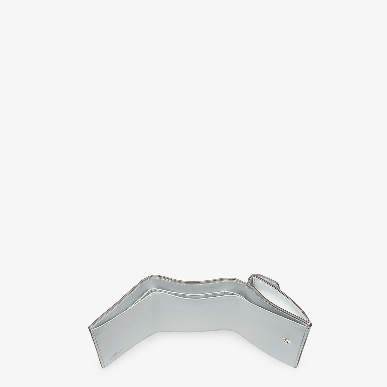 FENDI MICRO TRIFOLD - Grey leather wallet - view 5 detail