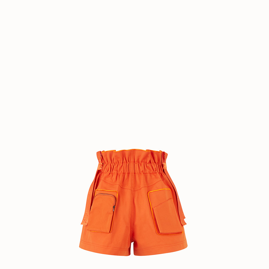 FENDI 百慕達短褲 - 橙色棉質百慕達短褲 - view 2 detail