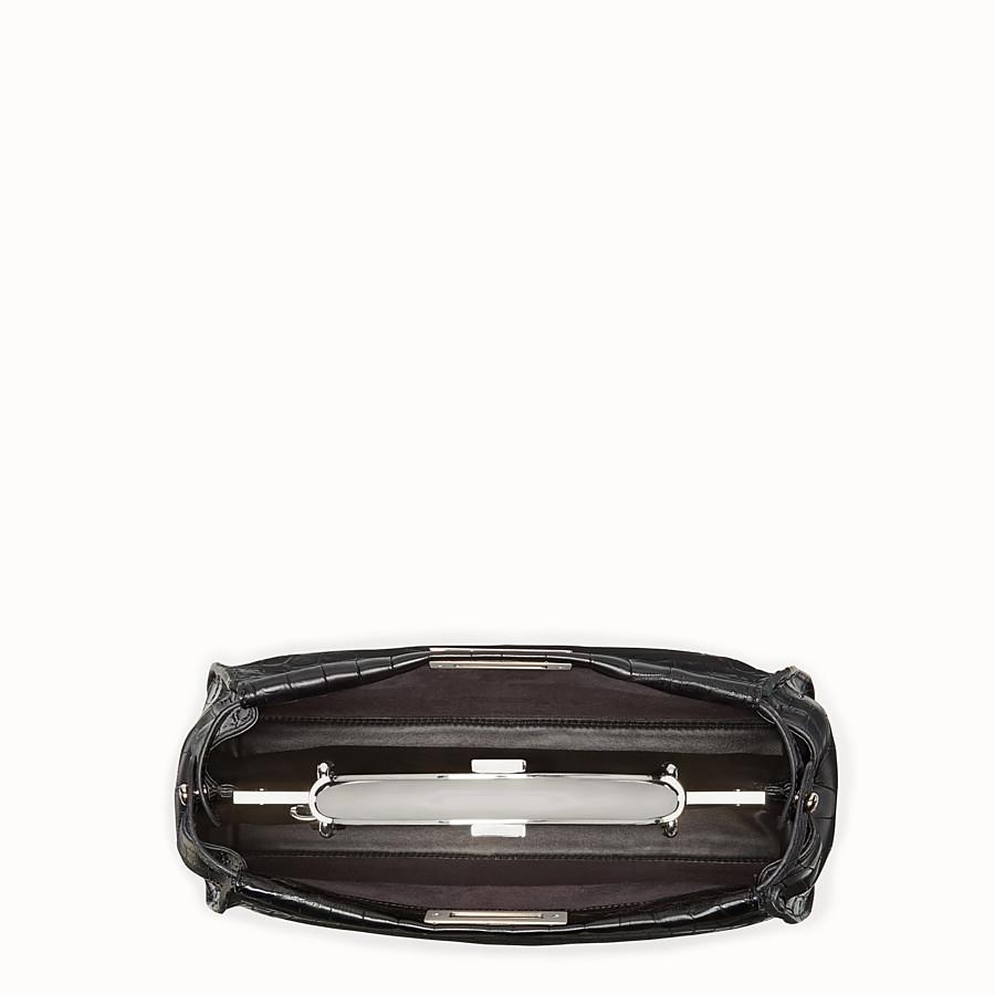 FENDI PEEKABOO REGULAR - Black crocodile leather handbag. - view 4 detail