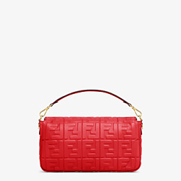 FENDI BAGUETTE LARGE - Tasche aus Leder in Rot - view 4 thumbnail