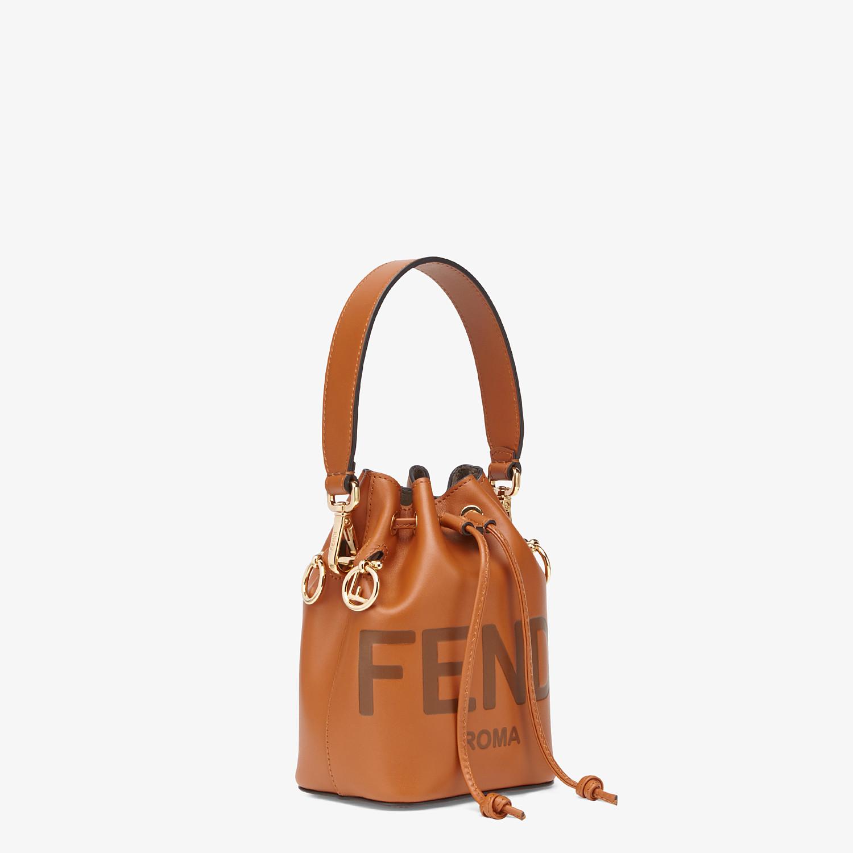 FENDI MON TRESOR - Brown leather mini-bag - view 3 detail