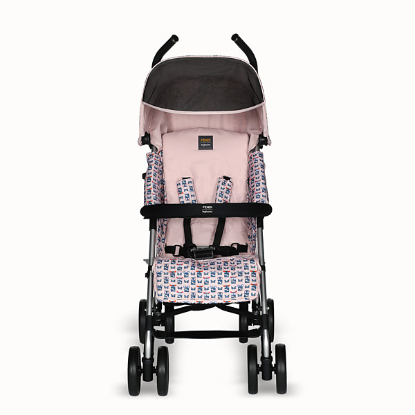 FENDI KINDERWAGEN - Rosafarbener Kinderwagen mit Monstermuster - view 1 small thumbnail