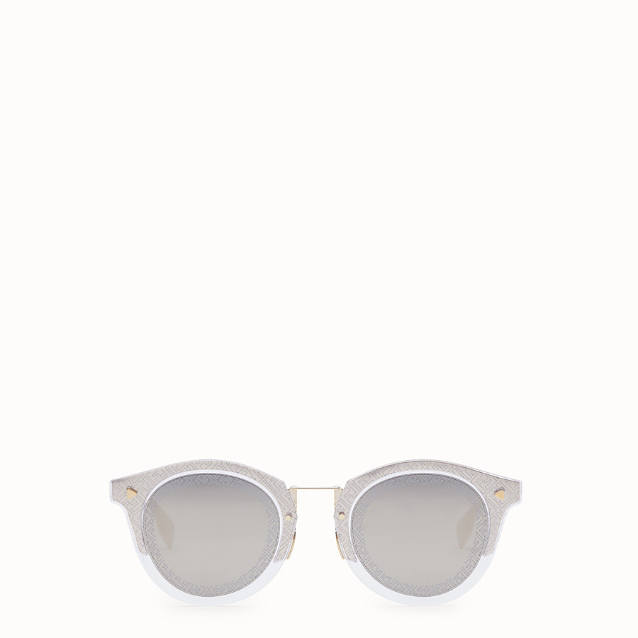 FENDI FF - Transparent and gold sunglasses - view 1 detail