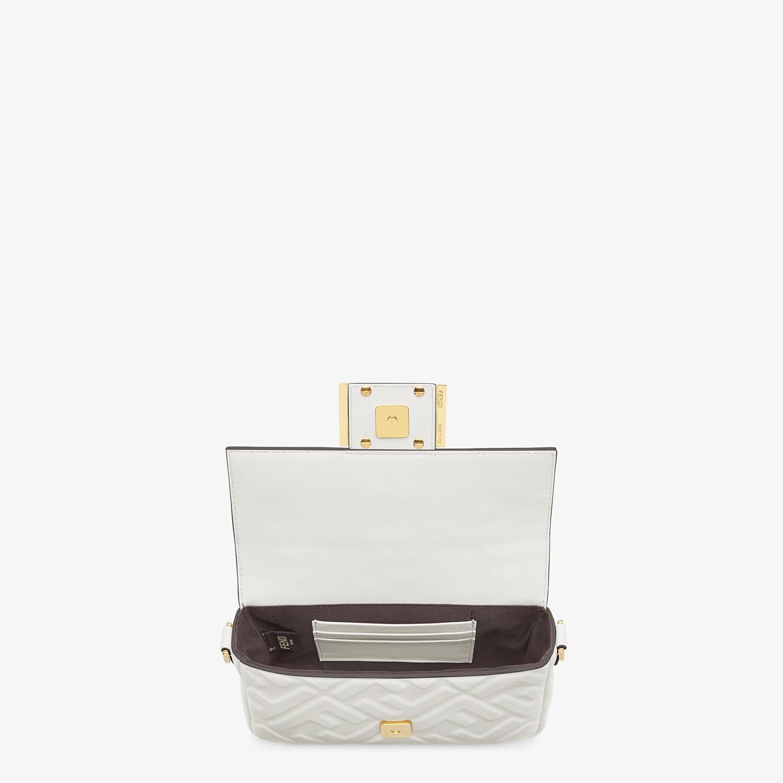 FENDI BAGUETTE - White leather bag - view 4 detail