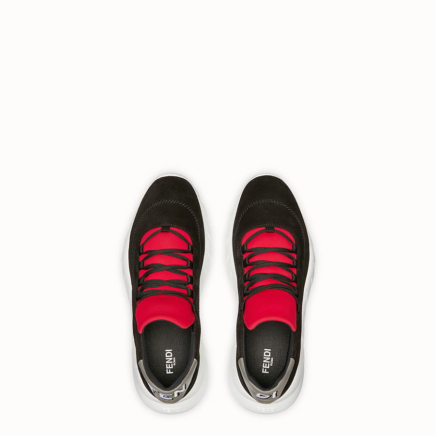FENDI SNEAKER - Low top in crosta nera - vista 4 dettaglio