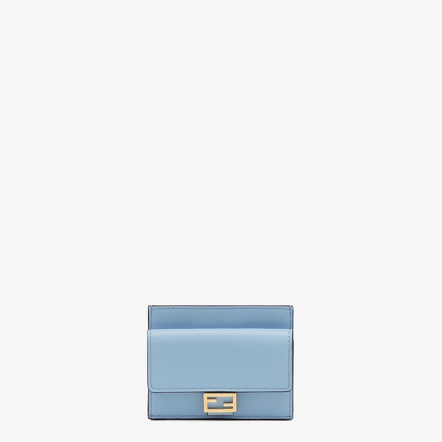 FENDI CARD HOLDER - Cardholder in light blue nappa leather - view 1 detail