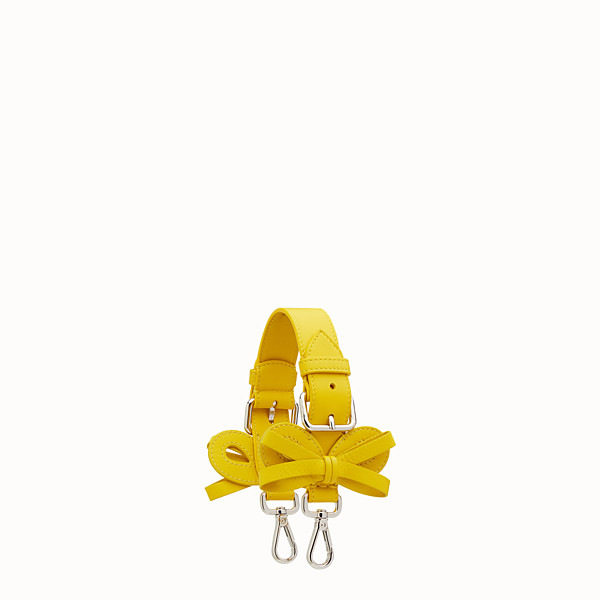 FENDI MINI STRAP YOU - Short shoulder strap in yellow leather - view 1 small thumbnail