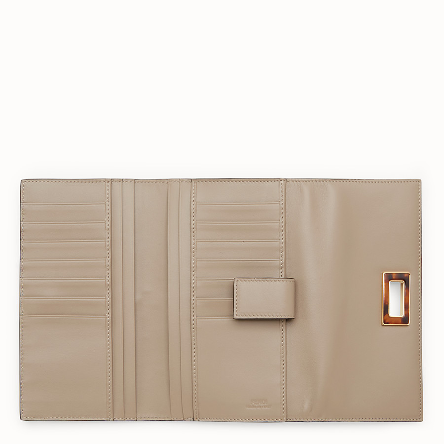 FENDI PEEKABOO WALLET - Continental wallet in dove-grey leather - view 5 detail