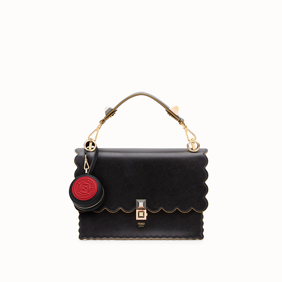 FENDI HELP BAG CHARM - Black leather charm - view 4 detail