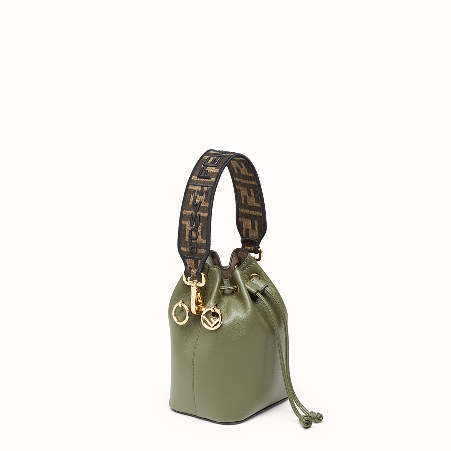 FENDI MINI STRAP YOU - Brown fabric shoulder strap - view 2 detail