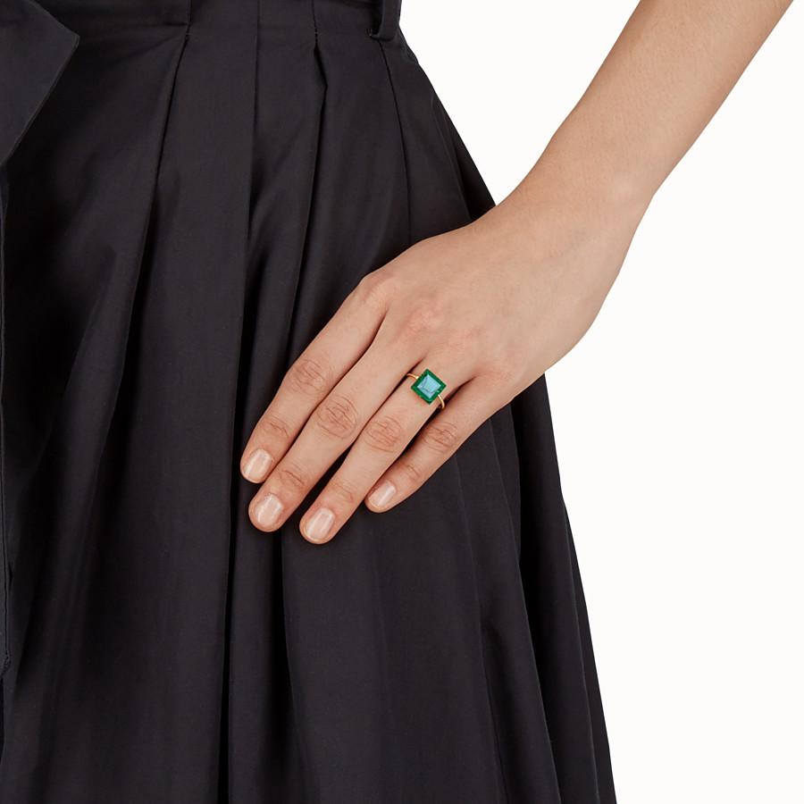 FENDI RAINBOW戒指 - 金屬戒指,裝飾雙色寶石 - view 2 detail