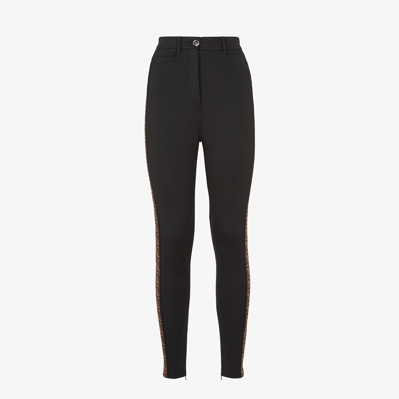 FENDI PANTALONE - Pantalone in jersey nero - vista 1 dettaglio