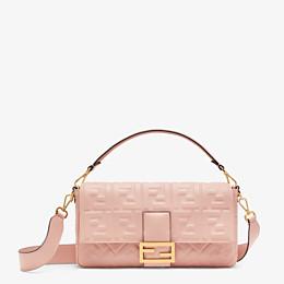 FENDI BAGUETTE LARGE - Pink nappa leather bag - view 1 thumbnail