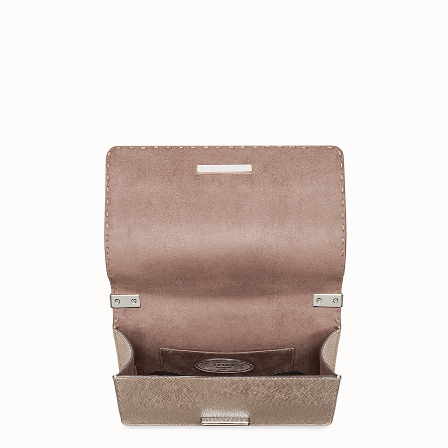 FENDI MESSENGER - Beige leather messenger - view 4 detail