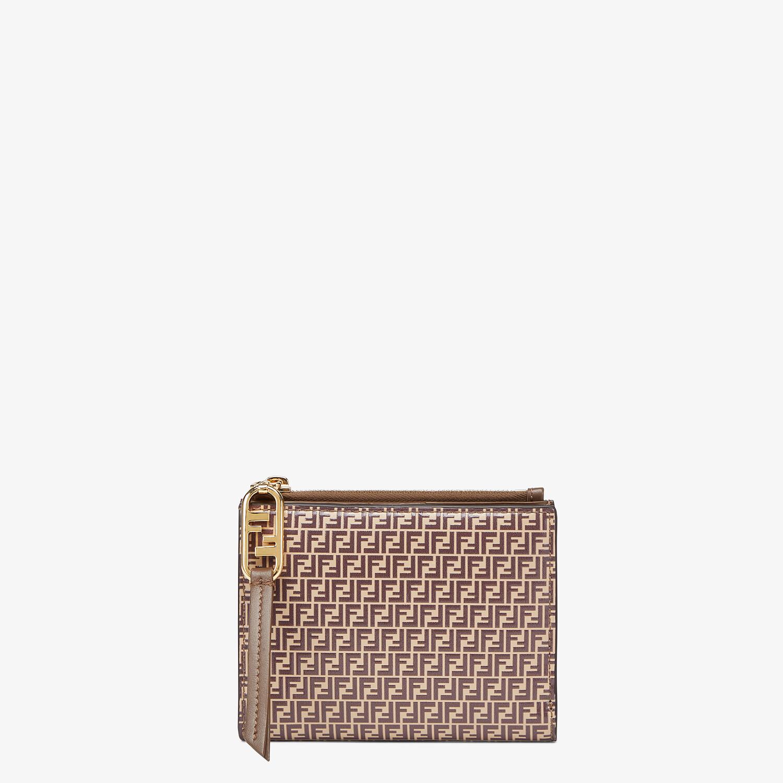 FENDI MEDIUM WALLET - Beige leather wallet - view 1 detail