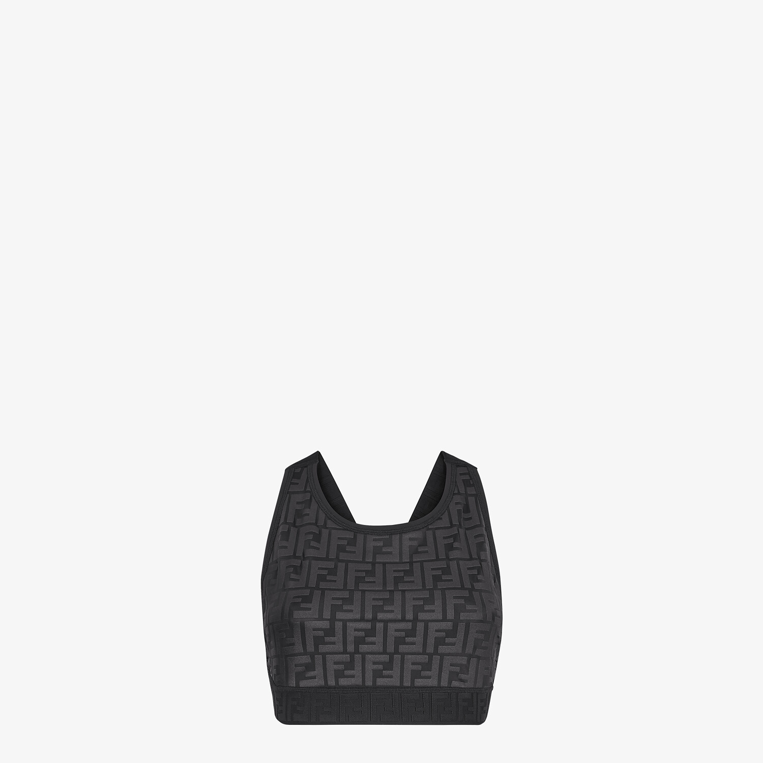 FENDI SPORTS TOP - Black tech fabric top - view 1 detail