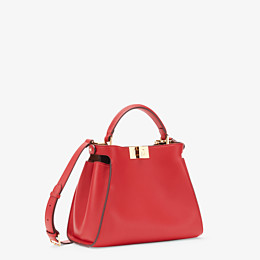 FENDI PEEKABOO ICONIC ESSENTIALLY - Red leather bag - view 2 thumbnail