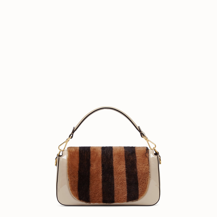 FENDI BAGUETTE - Multicolour, patent leather and sheepskin bag - view 4 detail