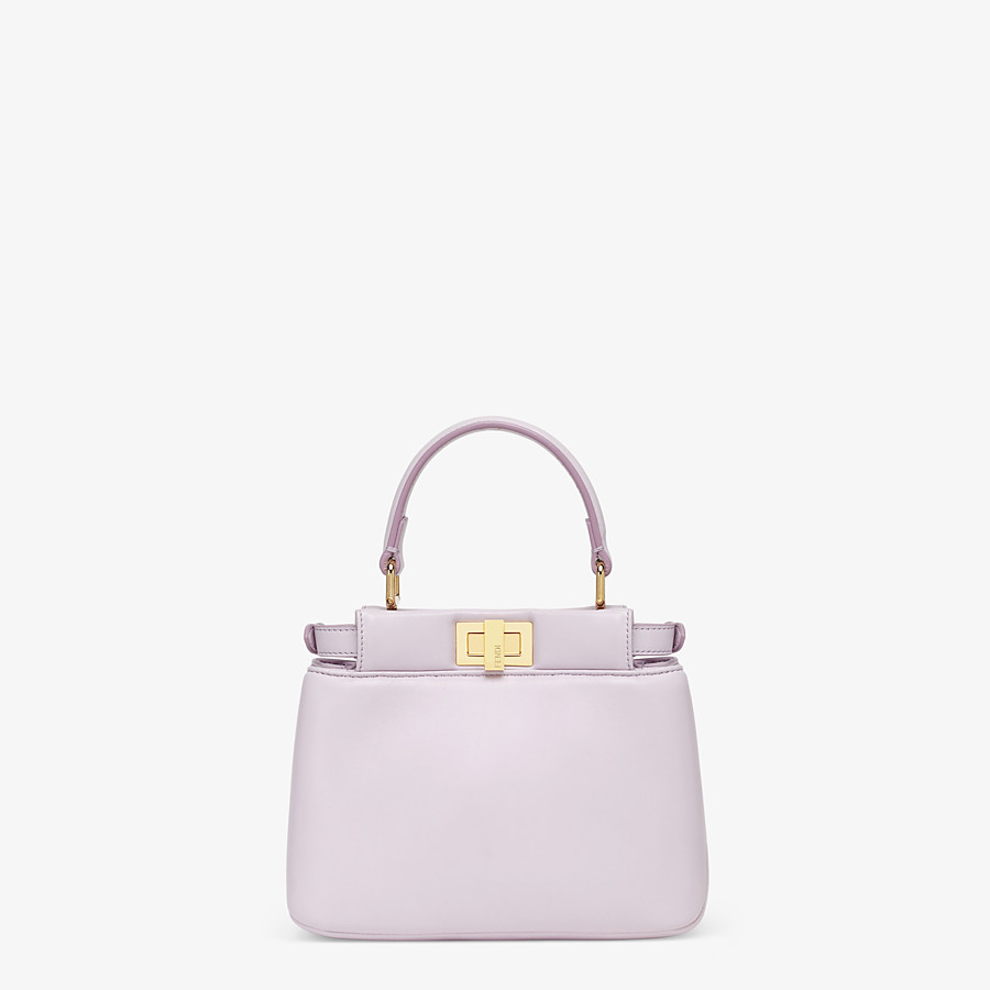 FENDI PEEKABOO ICONIC XS - Lilac nappa leather bag - view 4 detail